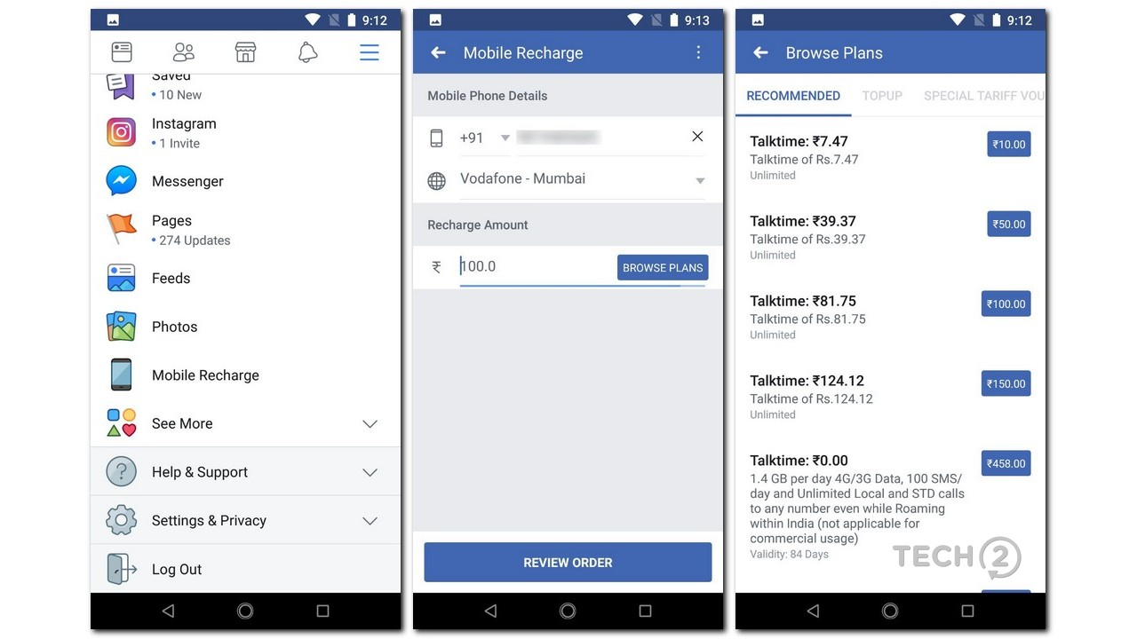 Facebook now lets Indian users recharge their phone numbers ... on exo facebook, pro facebook, lam facebook, joe facebook,