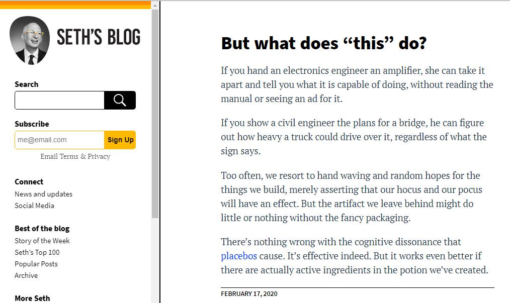 Seth blog