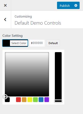 API Color control