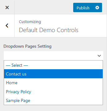 API Dropdown Pages Control
