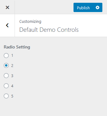 api RAdio button control